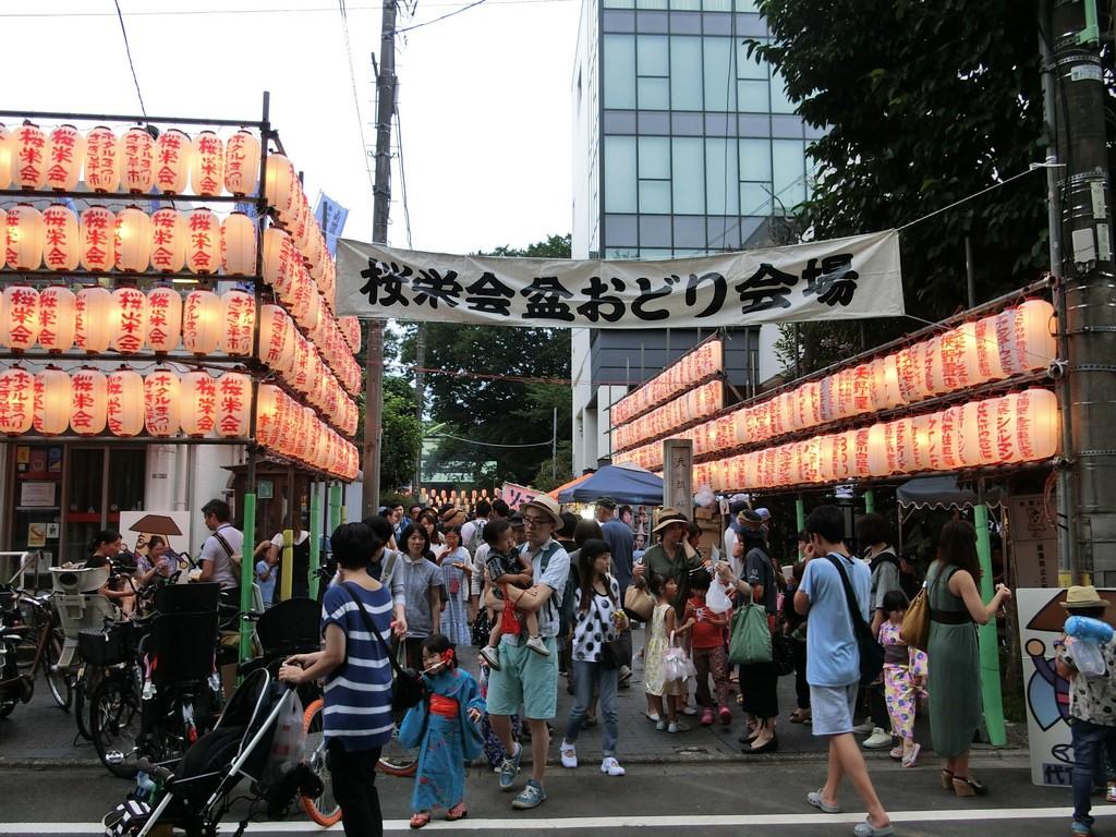 天祖神社の盆踊り大会